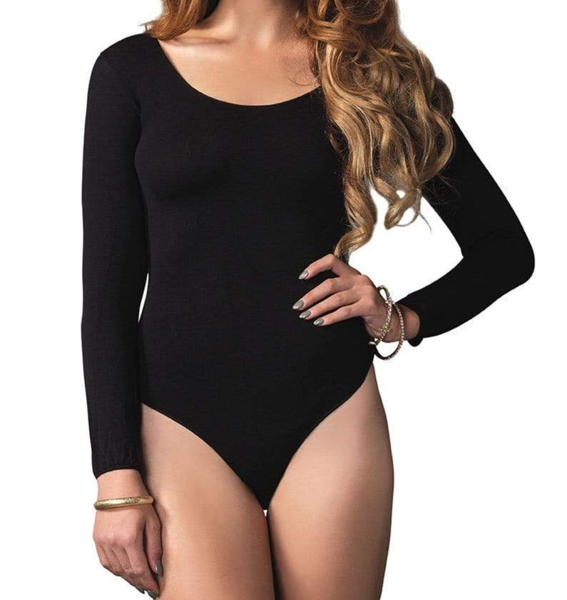 Opaque Long Sleeved Body Suit