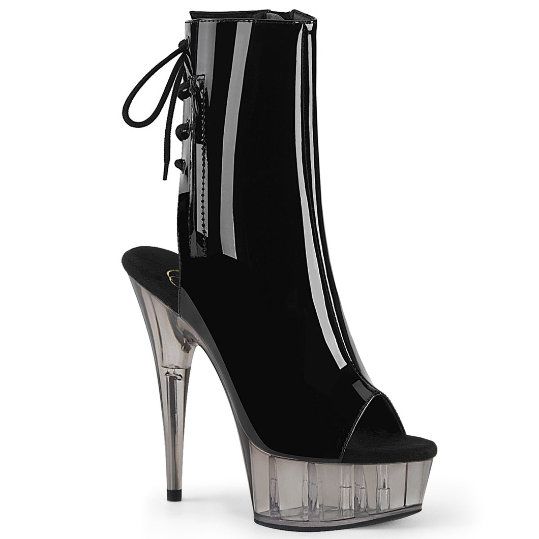 Pleaser Delight 1018T Peep Toe Platform Ankle Boot 6