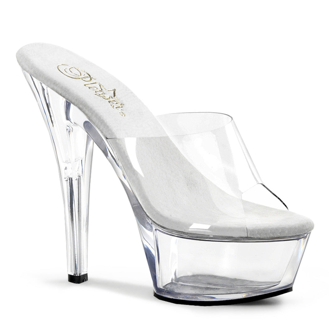 "Pleaser Kiss-201 Platform Slide 6"" Heel"