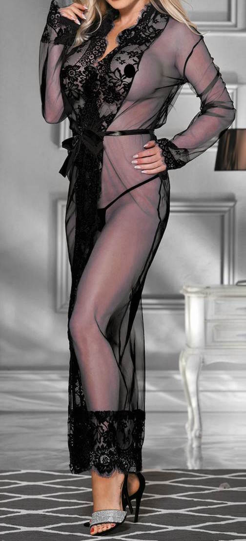 Long Lace Eyelash Robe