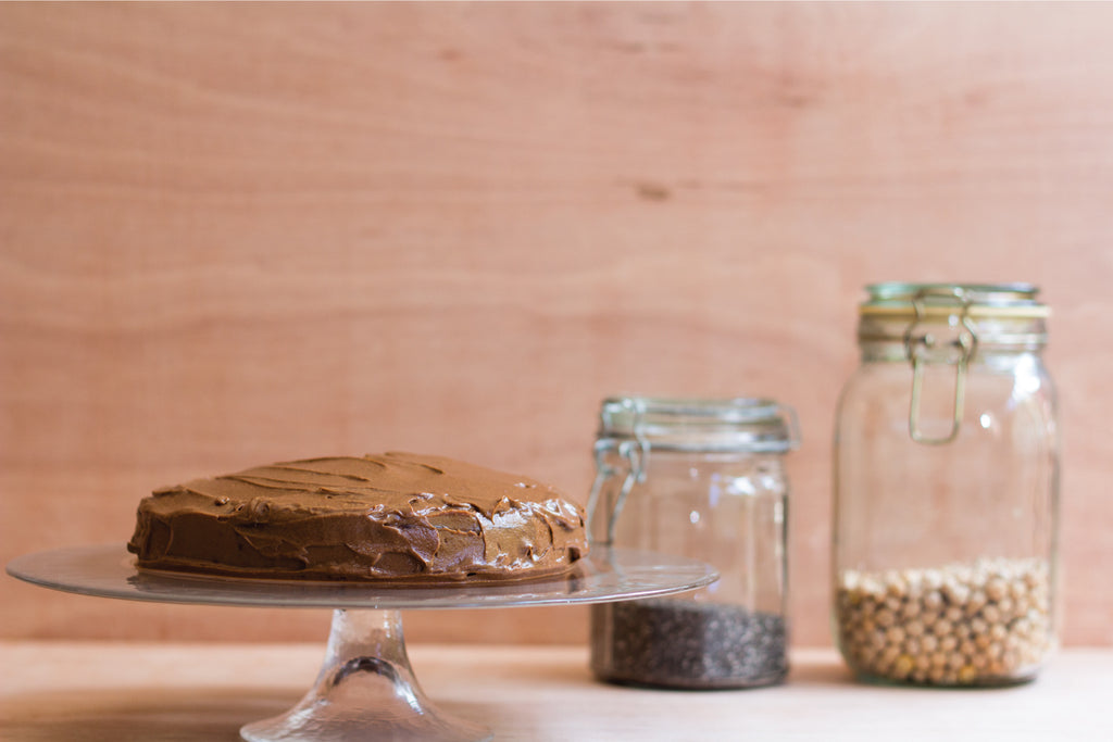 Chocolate Chickpea Cake with Avocado & Cacao Icing