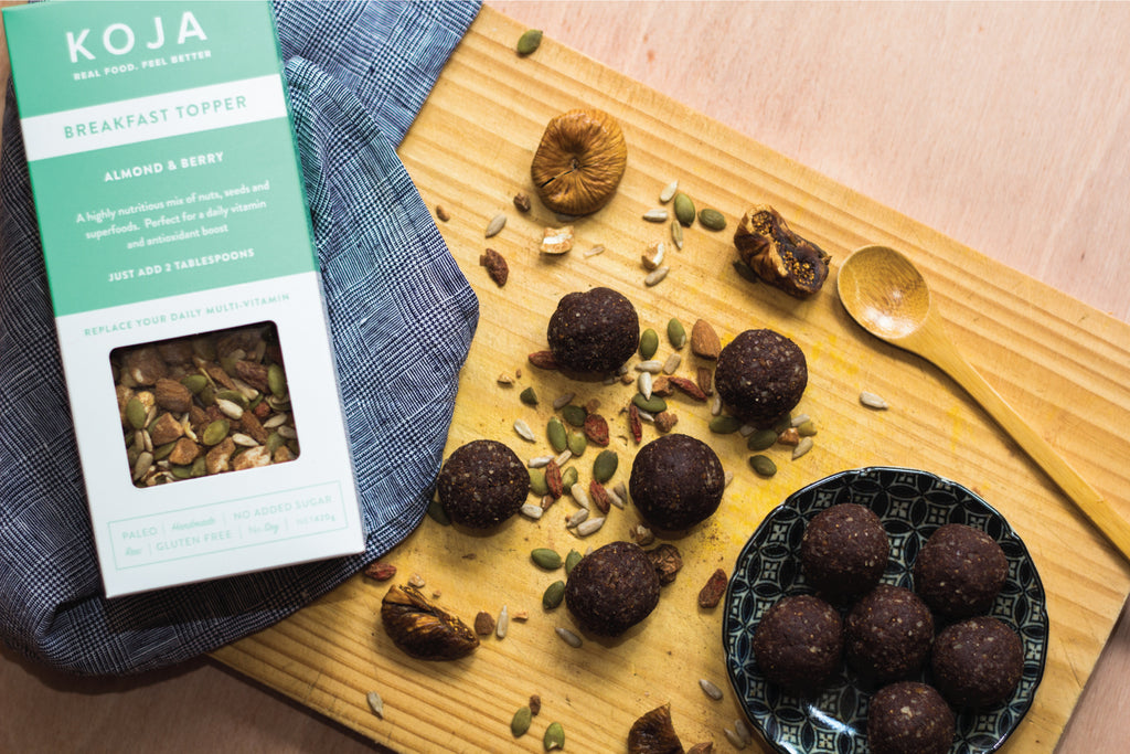 Bliss Balls with KOJA Almond & Berry
