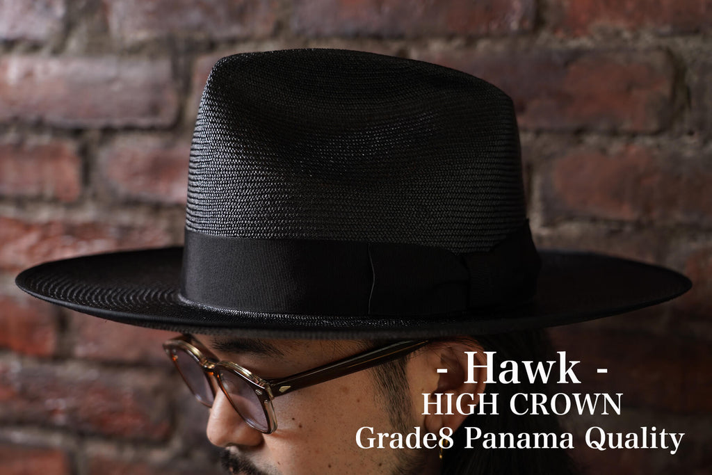 Hawk- HIGH / Grade8 Panama Quality / 2Color(BEIGE. BLACK)