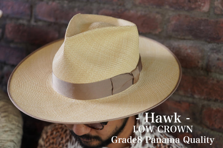 Hawk- LOW / Grade8 Panama Quality / 2Color(BEIGE. BLACK)