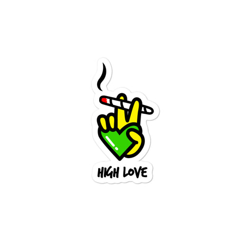 High Love Die Cut Sticker