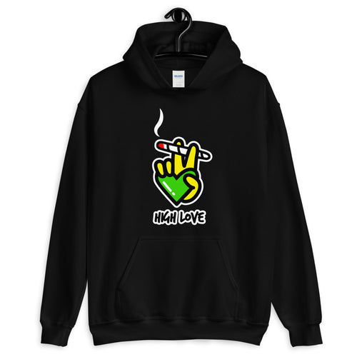 Black High Love Hoodie