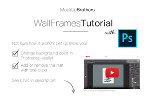 Wall Frame Mockup brightwood P2_A4