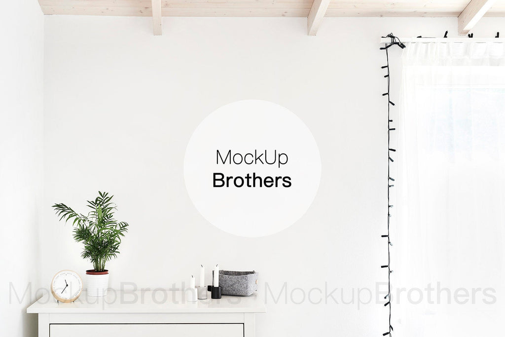 Bedroom wall art mockup by MockupBrothers
