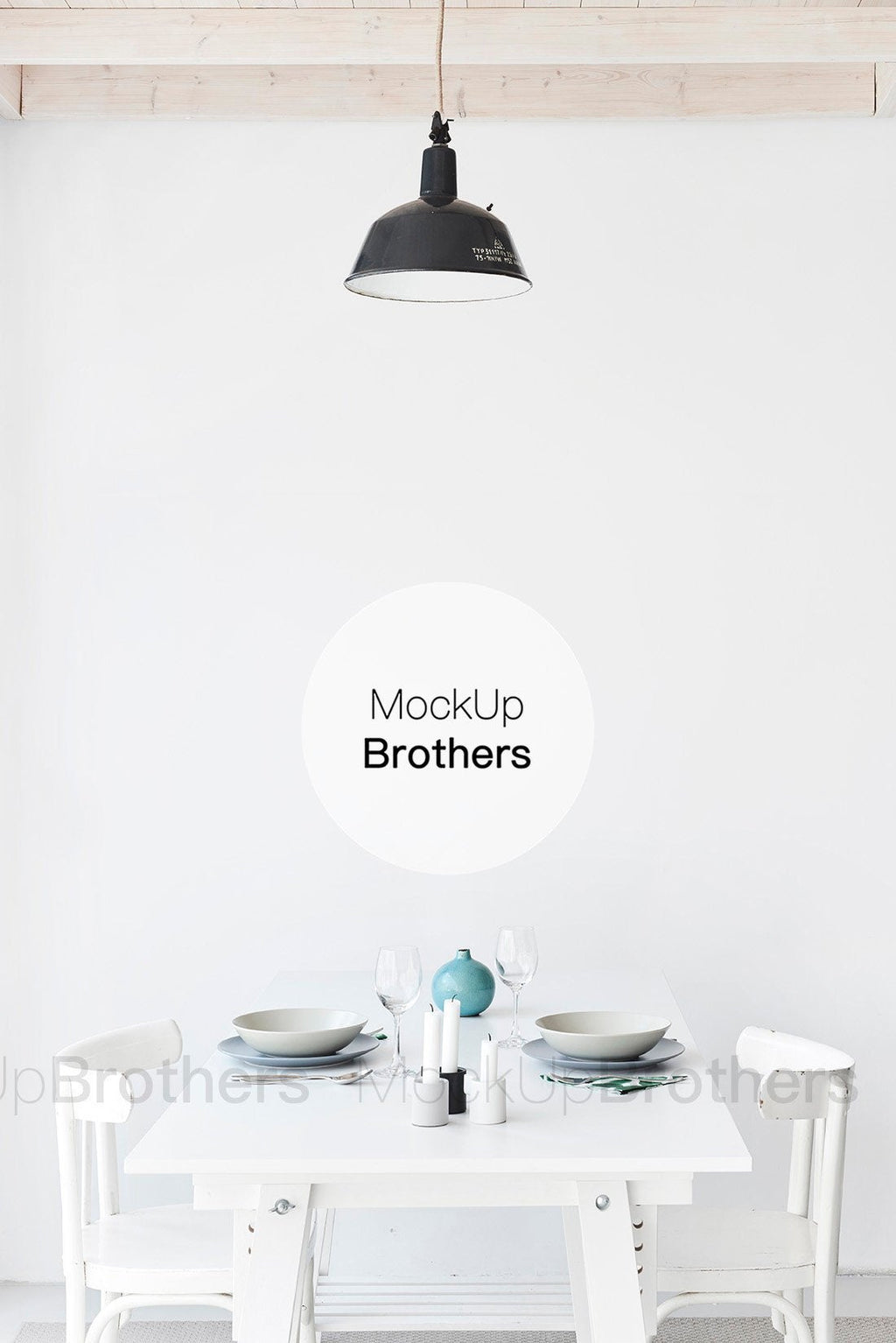 Dining room mockup by MockupBrothers