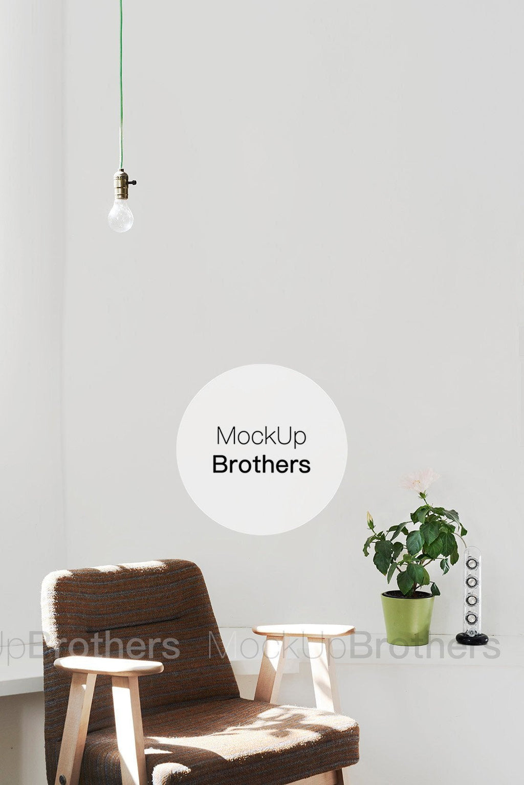 White wall mockup by Mock Up Brothers
