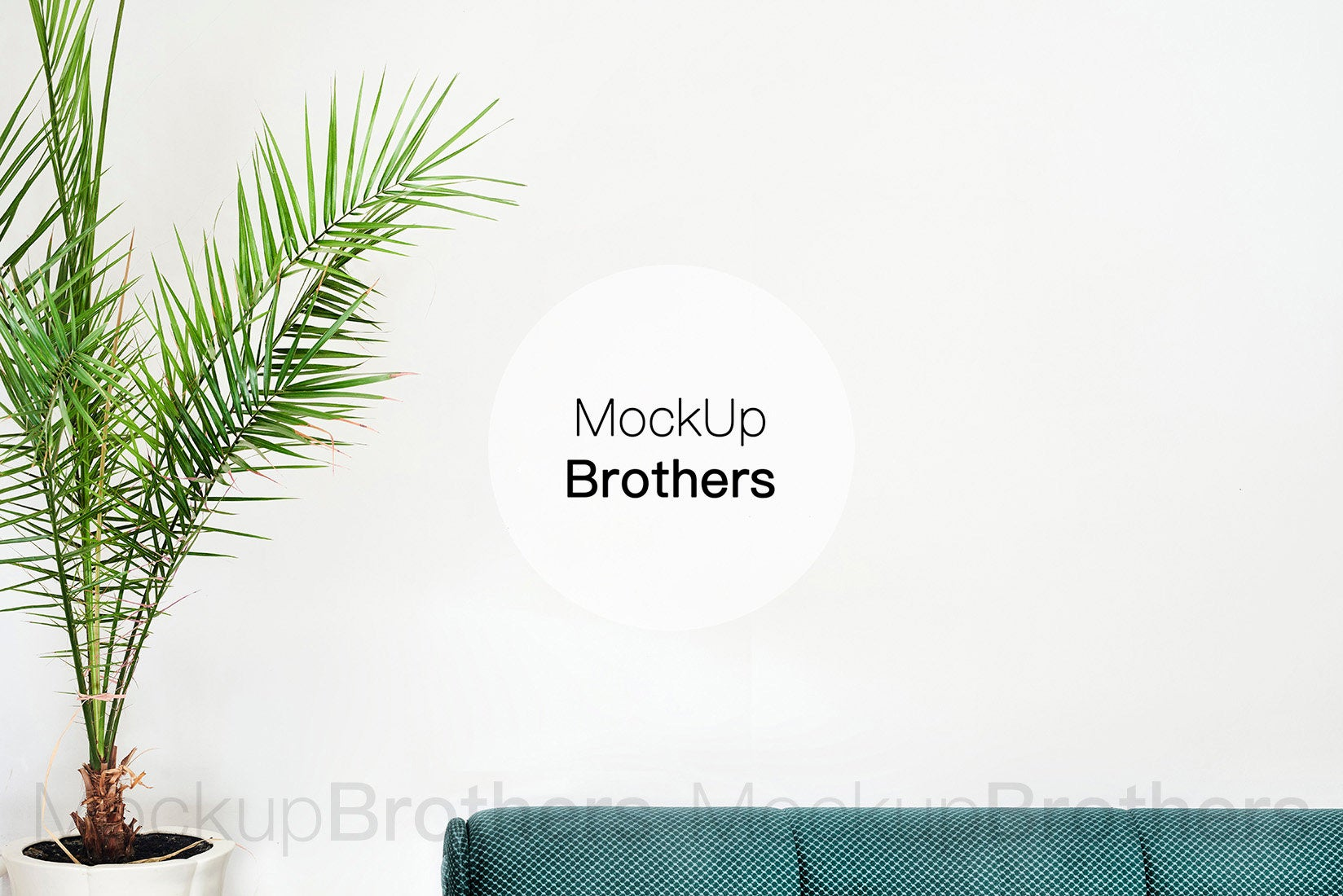 Tropical interior for posters and paintings by Mockup Brothers