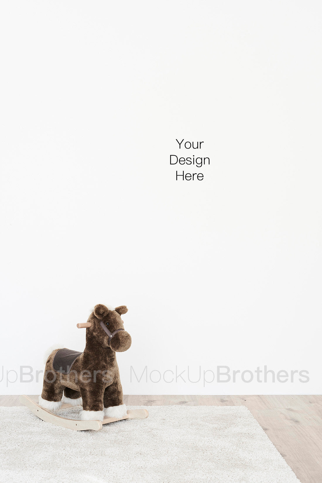 Nursery room mock up for posters print and paintings 41