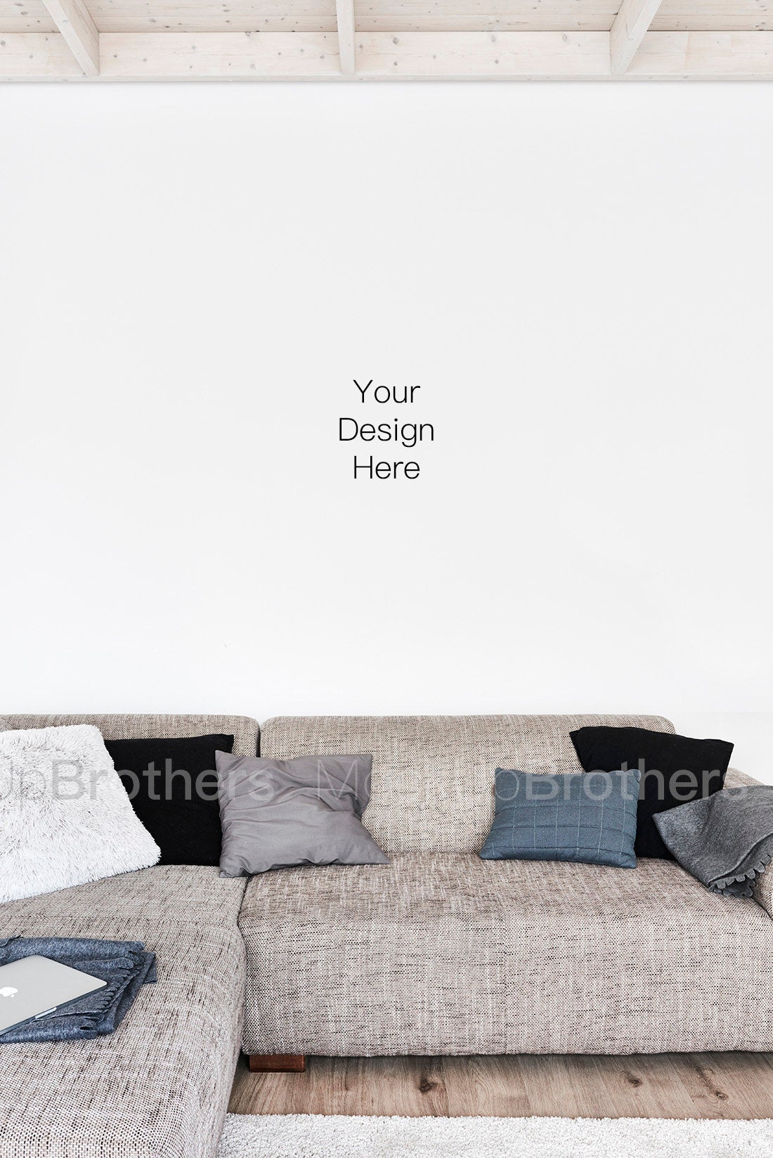 Living room interior mockup with sofa 59