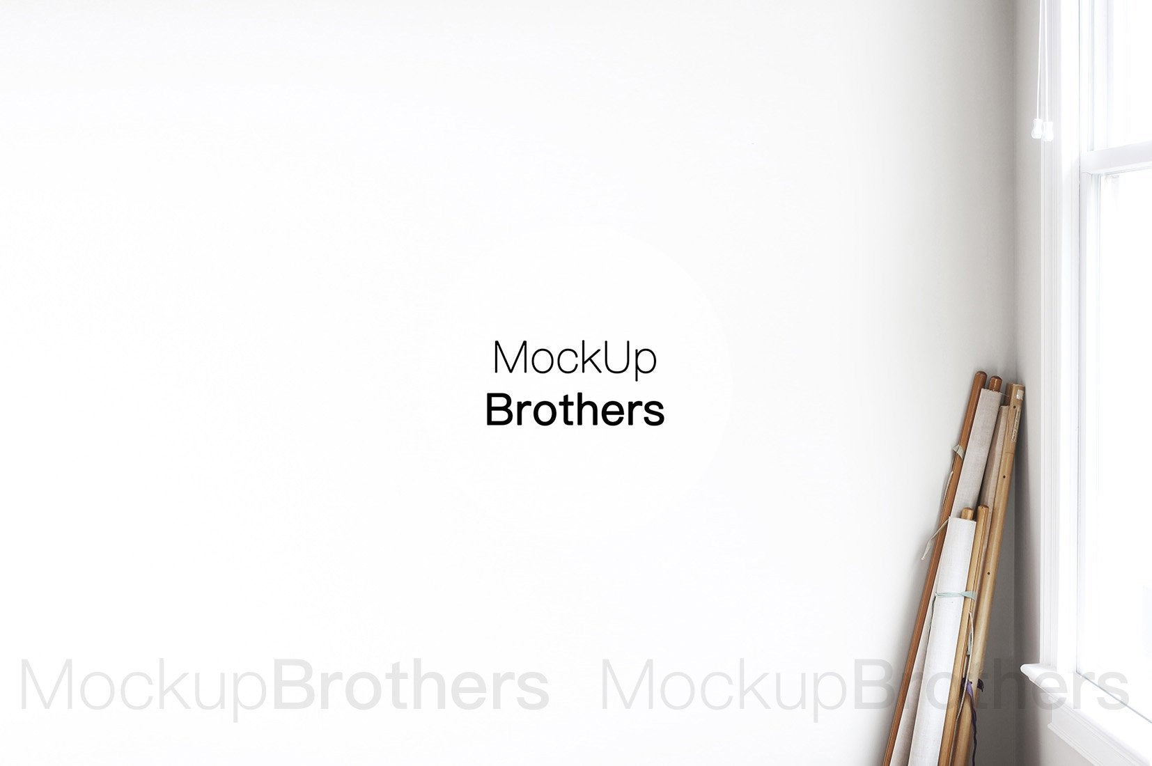 Gallery wall mockup by Mock up Brothers