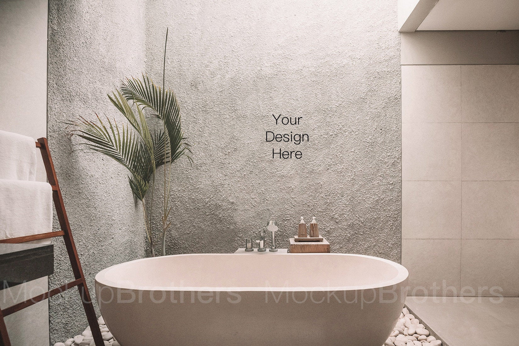 Modern bathroom interior mock ups