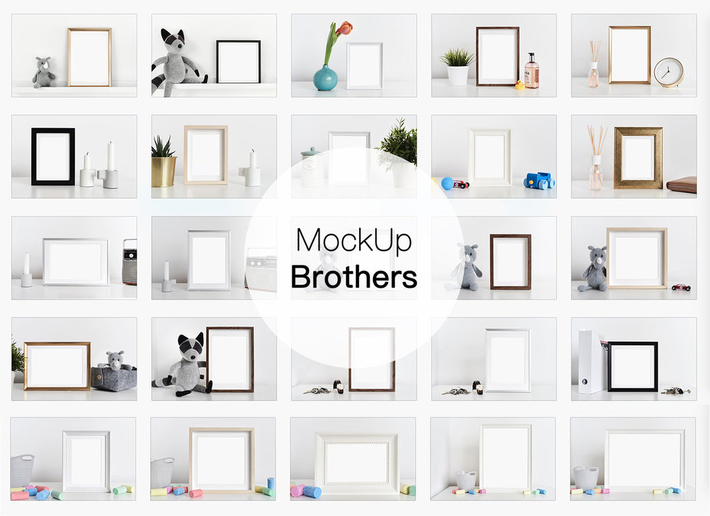 Frame mockup bundle by Mockup Brothers