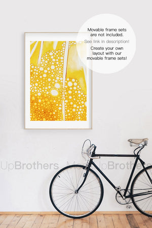 Frame mockup for wall art prints by MockupBrothers
