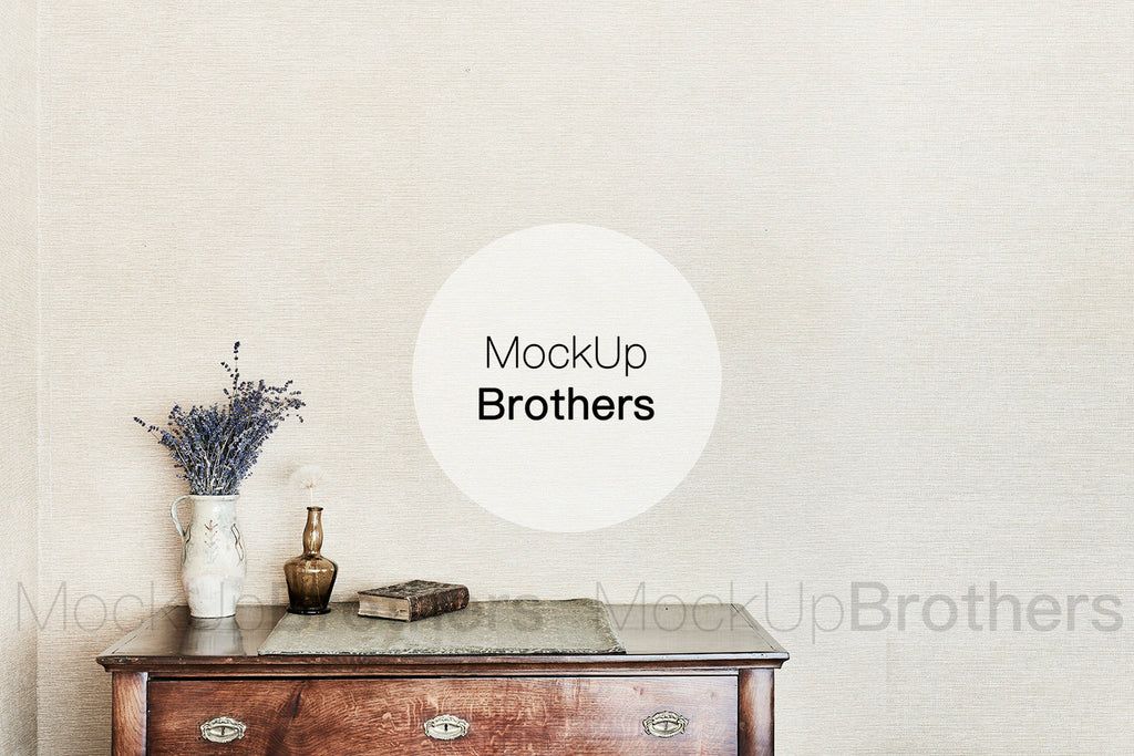 Farmhouse style interior mockup by Mockup Brothers