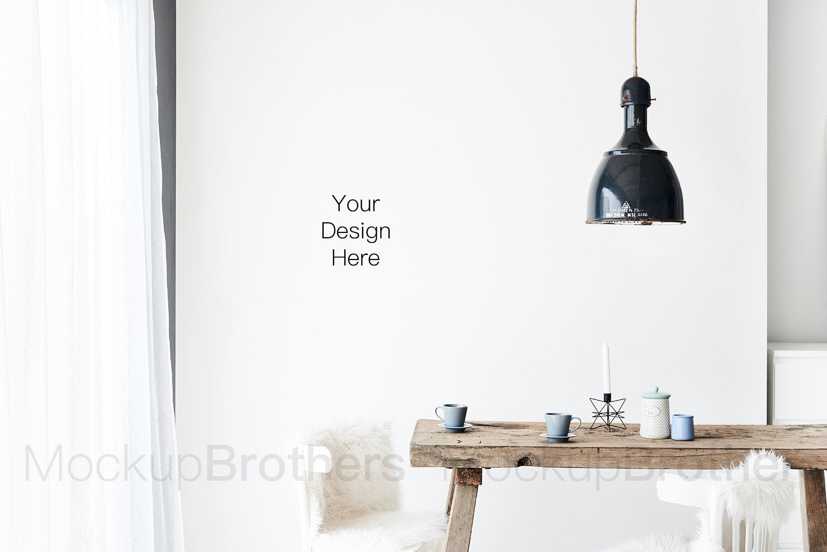 Scandinavian interior stock photography