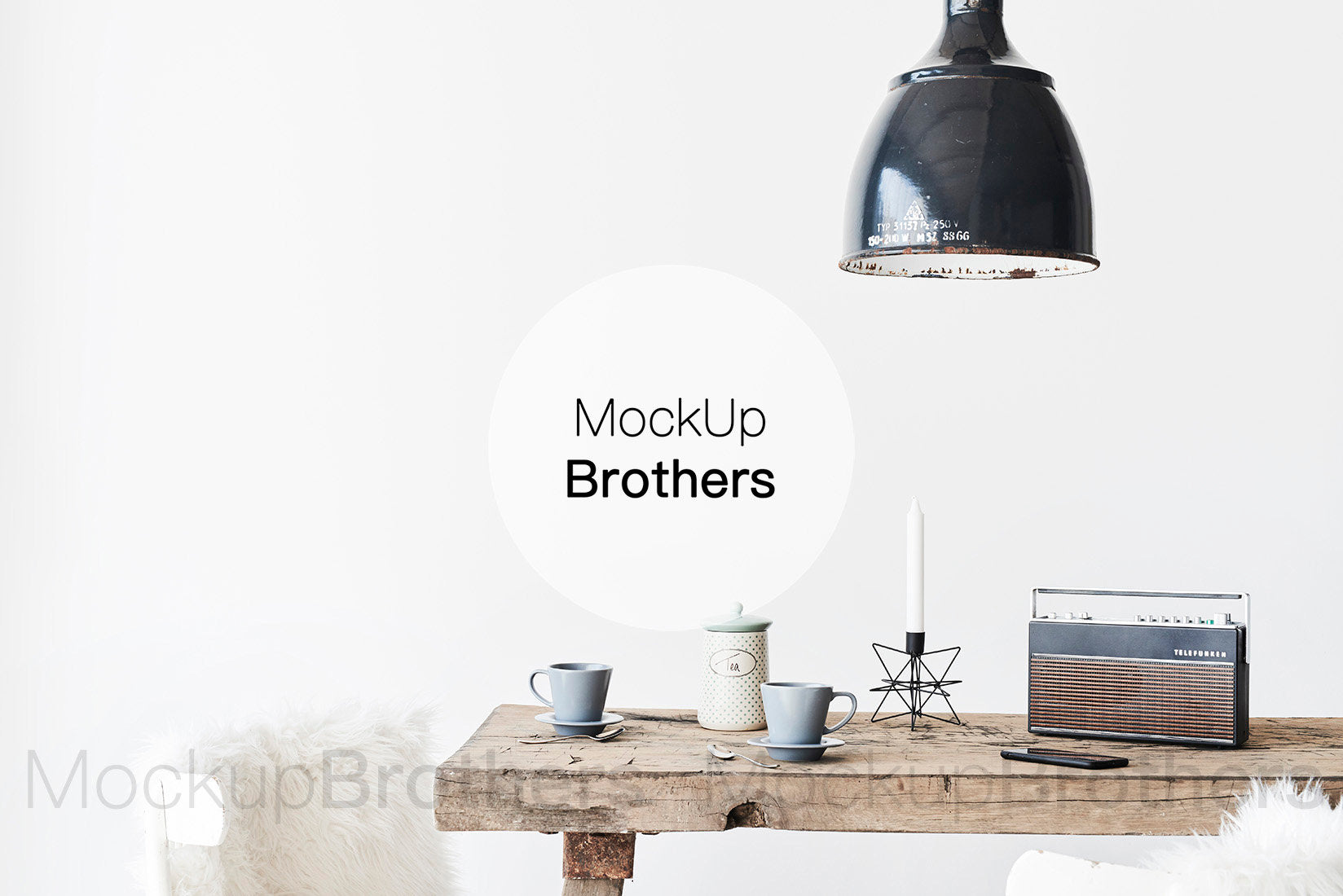 Farmhouse interior mockup by Mockup Brothers