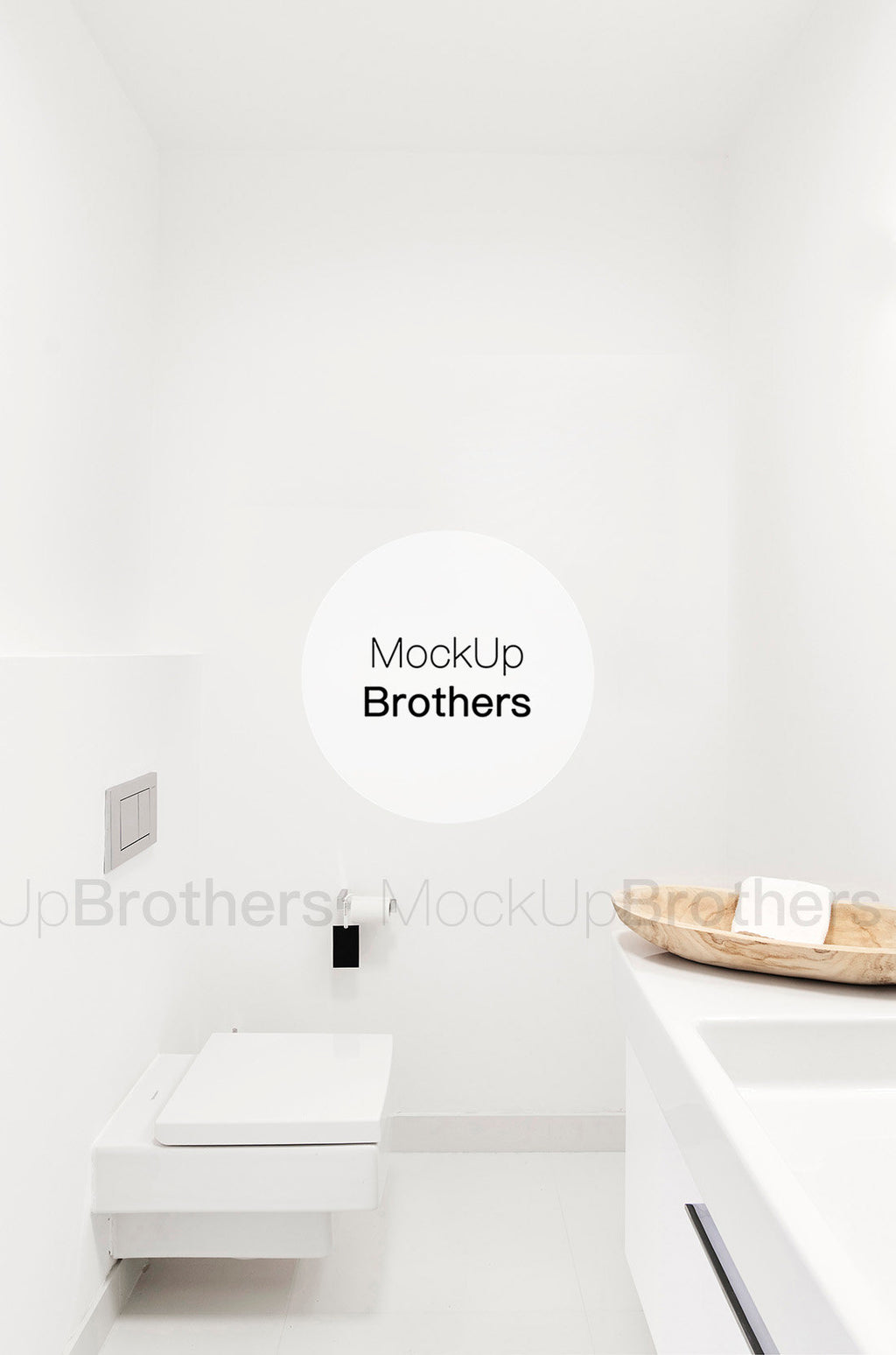 Luxury bathroom wall mockup by mockup brothers