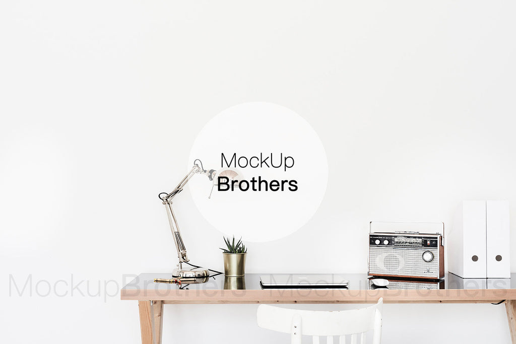Room mockup with table by Mockup Brothers