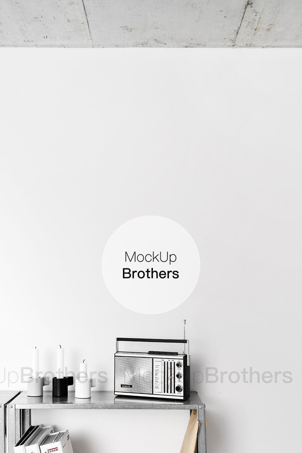 Office interior mockup for artists by Mockup Brothers