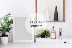 Bathroom frame mockup by Mockup brothers