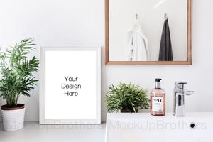 Frame mock up with white color