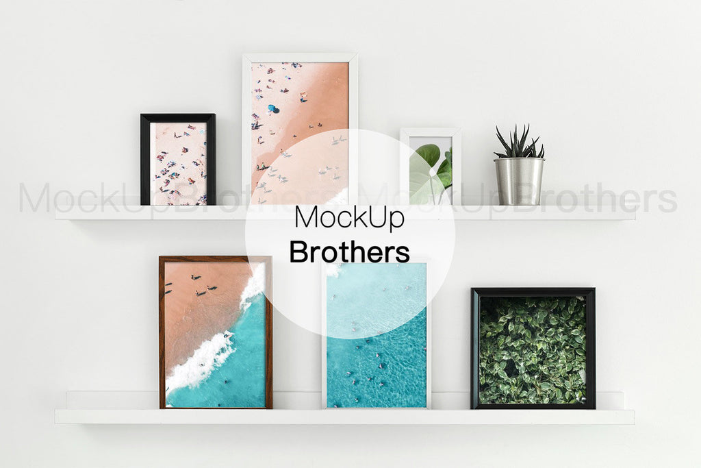 Multiple frame mockup by Mockup Brothers