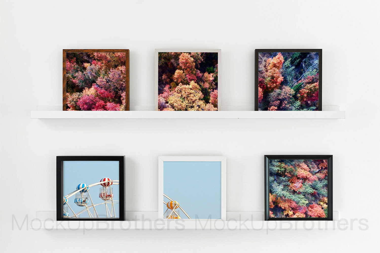 Multiple square frames mockup L06
