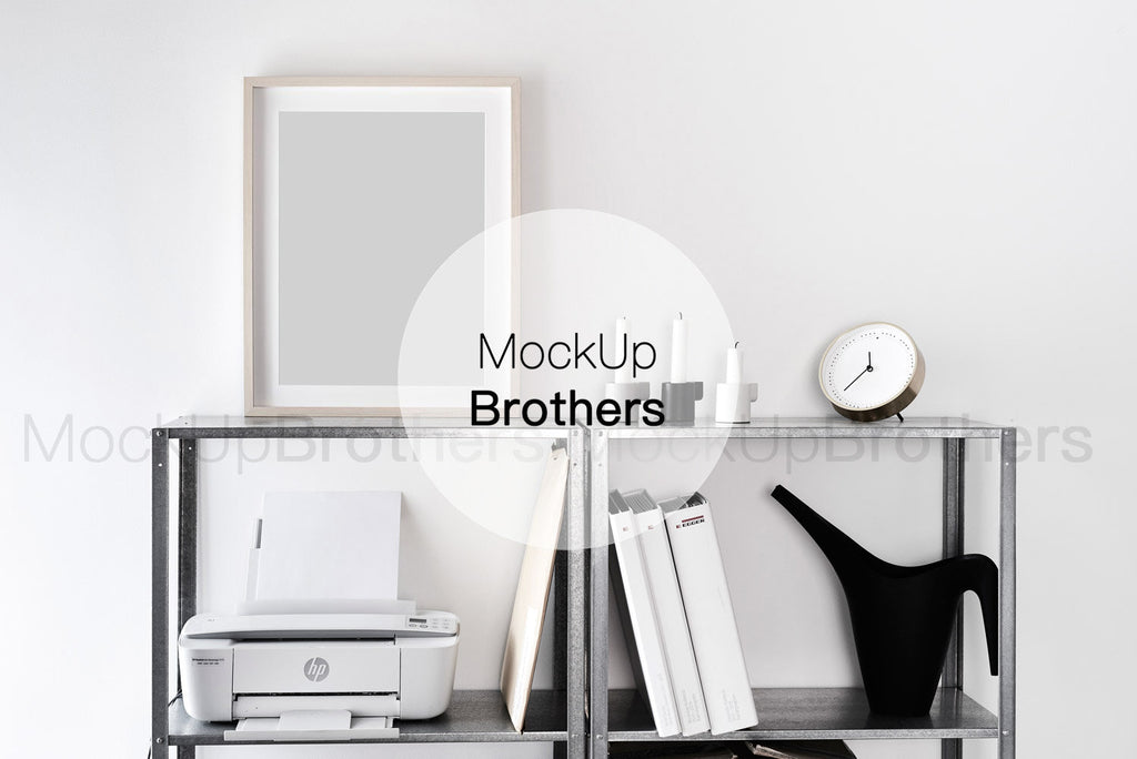 10x13 inch frame mockup in office by Mockup Brothers