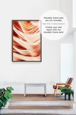 Wall mockup for paintings by Mock up Brothers
