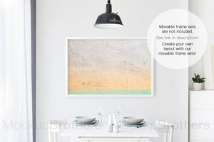 Wall art mockup for large paintings