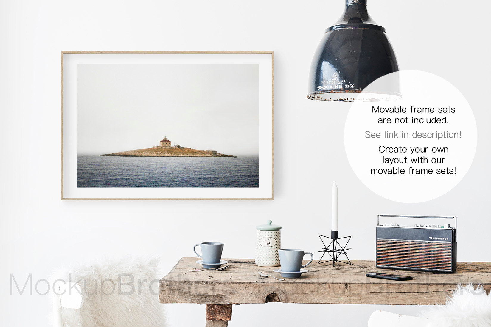 Frame mockup in modern interior by Mockup brothers