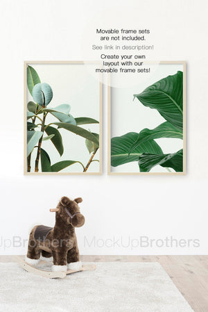 Nursery room frame mockup by mock up brothers
