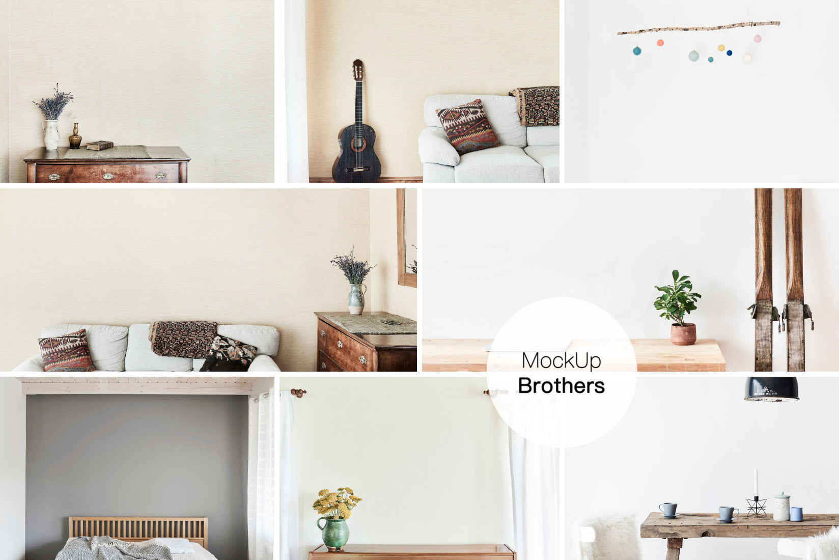 wall art mockup bundle pack