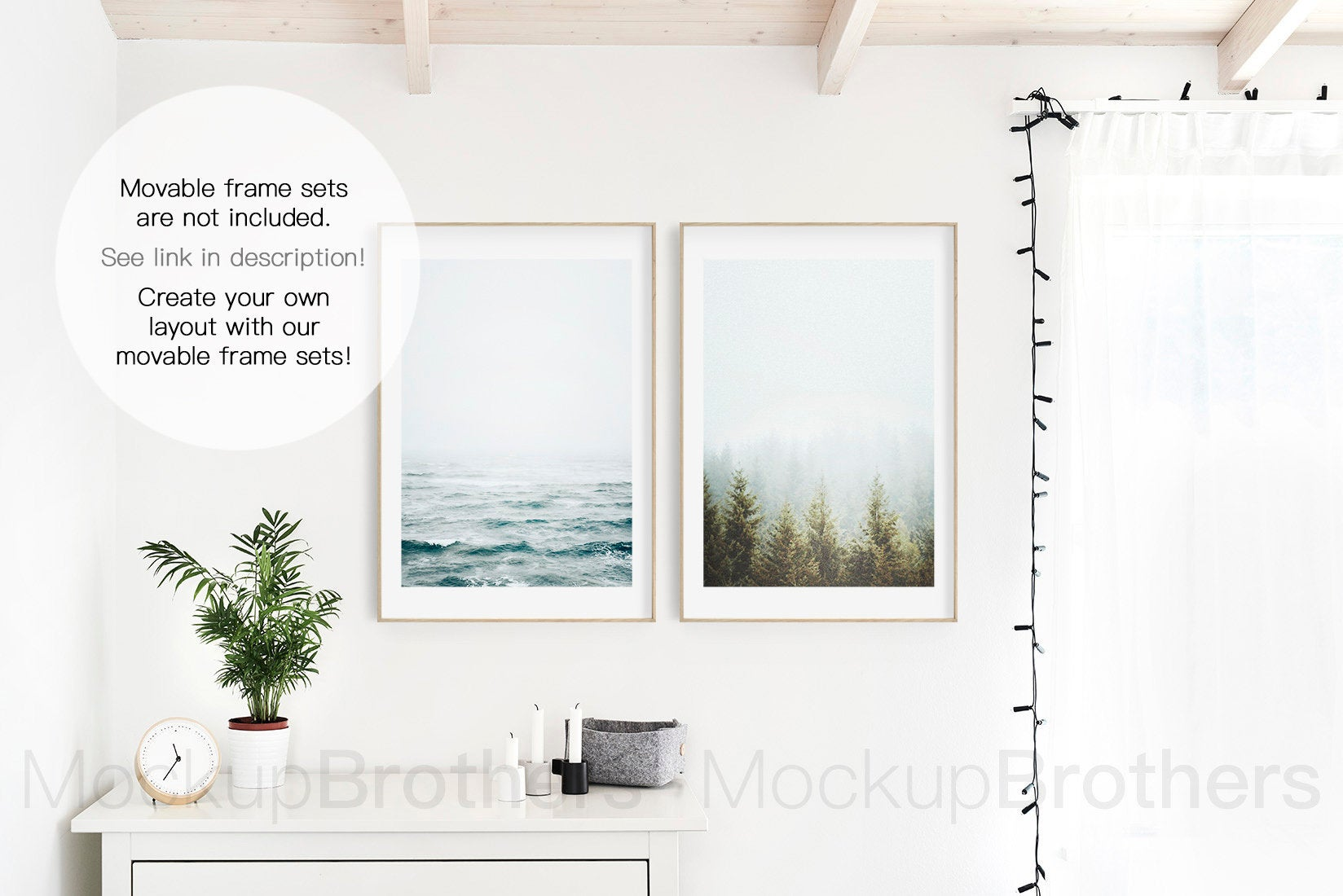 Frame mockup by Mockup Brothers