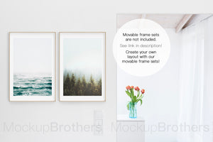 A4 frame mockup in interior by mock up brothers