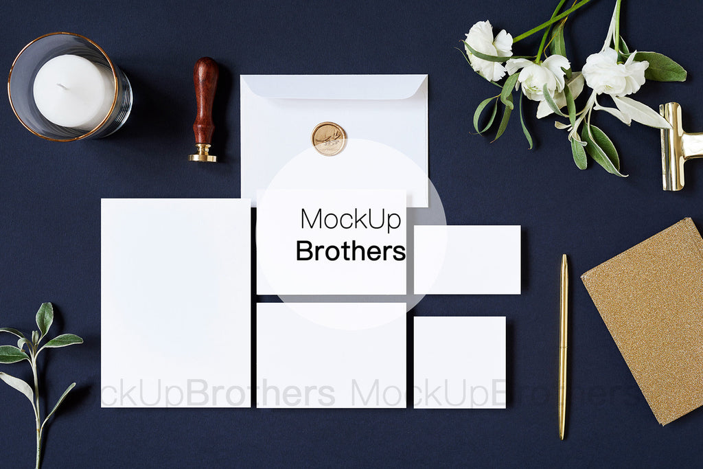 Wedding stationery mockup W02_27