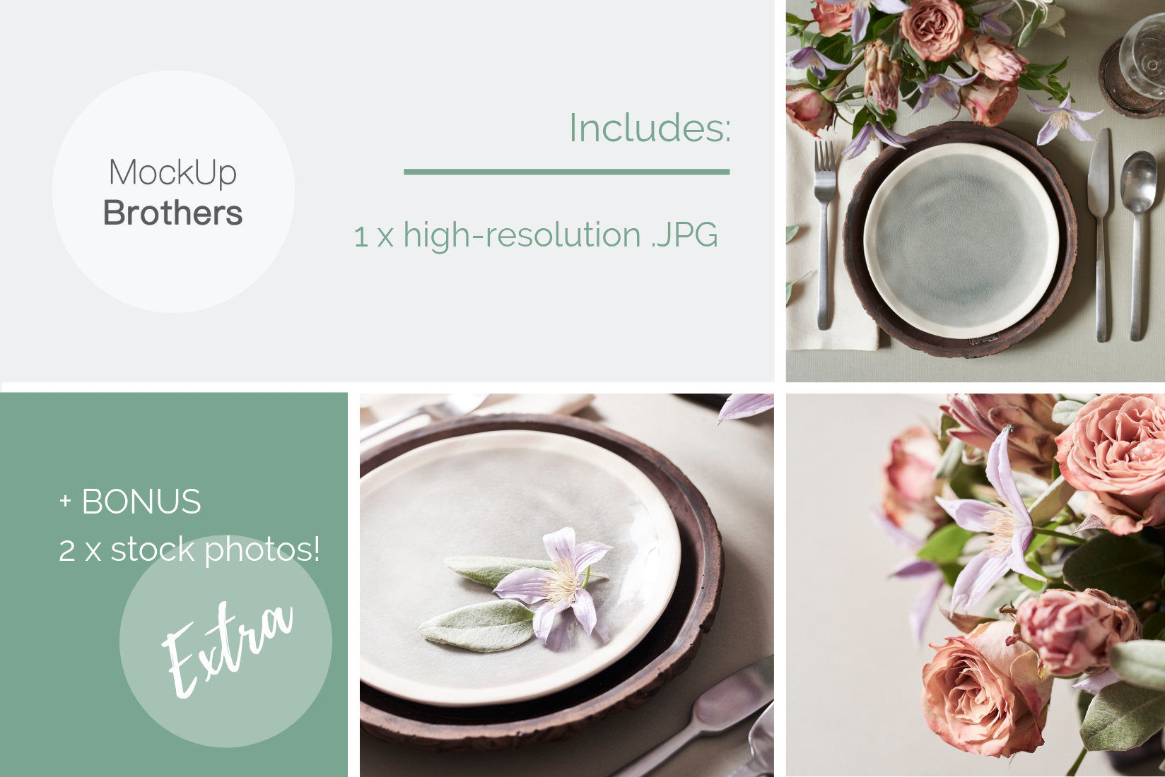 Wedding menu mockup W04_02