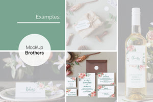 Wedding invitation mockup W04_37