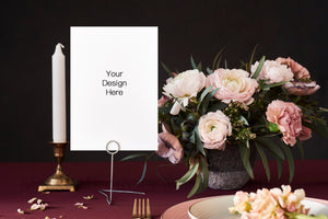 Wedding table number mockup W06_28