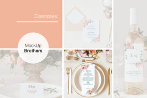 Wedding menu mockup W01_00