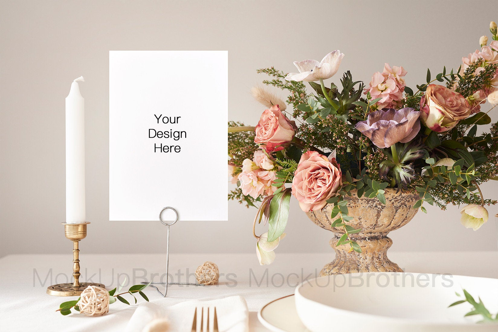 Wedding table number mockup W01_45