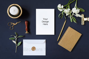 Wedding invitation mockup W02_31