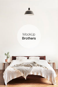 Bedroom interior mockup by Mock up Brothers