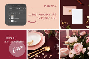 Wedding Card Mockup W06_57