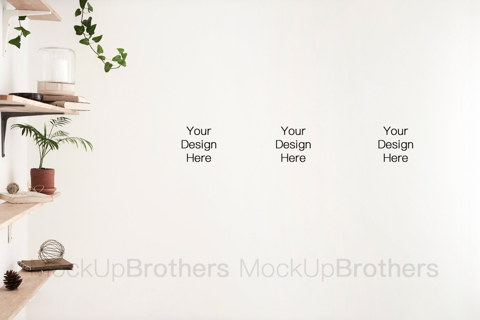 Botanical wall mockup from Mocuk Brothers