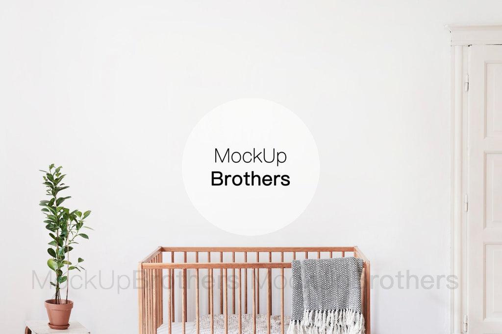 Nursery interior stock photography by mockup brothers